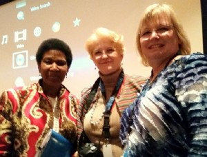 Ex Director of UN Women Phumzile Mlambo-Ngcuka, Lisa Polgar and Rose Woodruff
